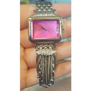 Betsey Johnson silver watch